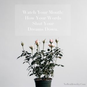 Watch Your Mouth How Your Words Shut Your Dreams Down Jessica Lauren of NoRealJewelry.Com