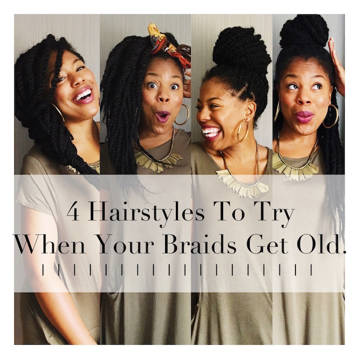 4 Easy Hairstyles To Try When Your Braids Start Looking Old  | No