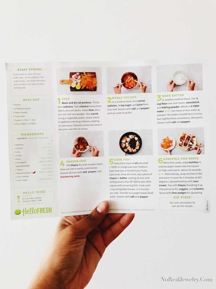 Cooking With Hello Fresh by Jessica Lauren of NoRealJewelry.Com 2