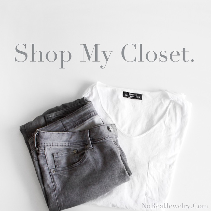 Shop My Closet by Jessica Lauren of NoRealJewelry.Com