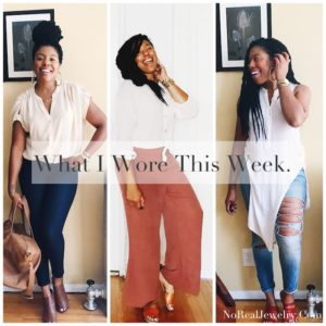 What I Wore This Week By Jessica Lauren of NoRealJewelry.Com October 2017